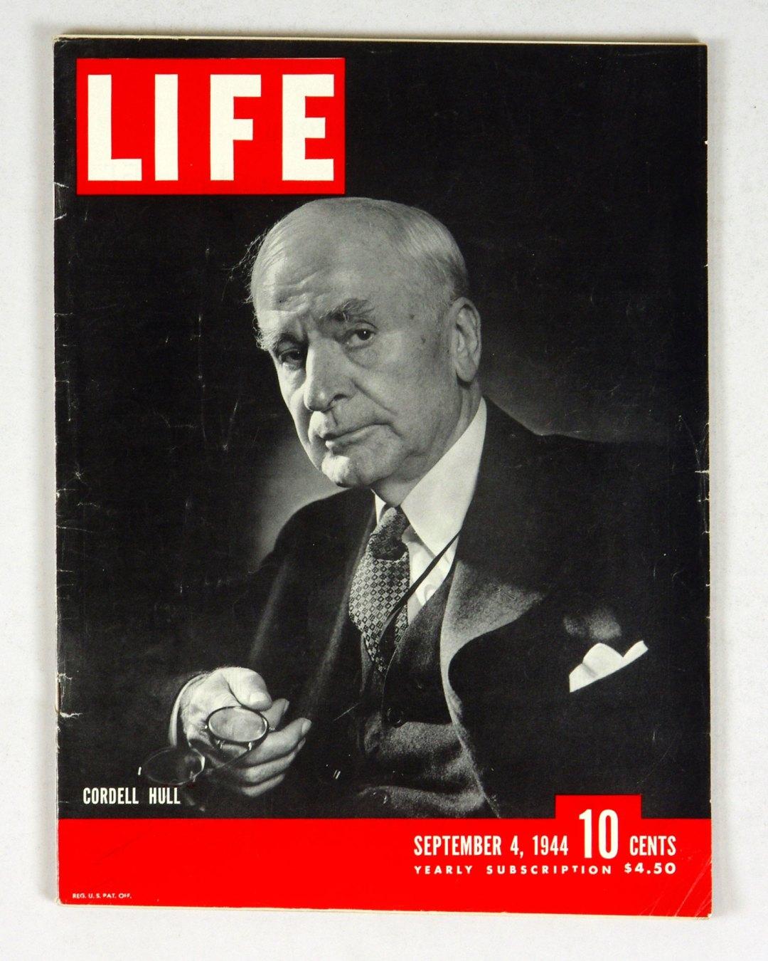 LIFE Magazine 1944 September 4 Cordell Hull