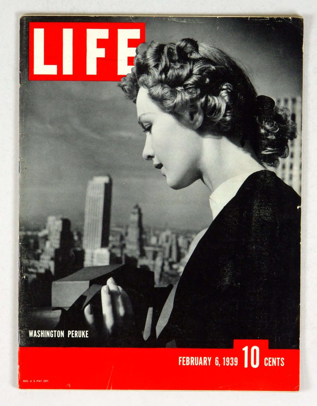 LIFE Magazine 1939 February 6 Washington Peruke