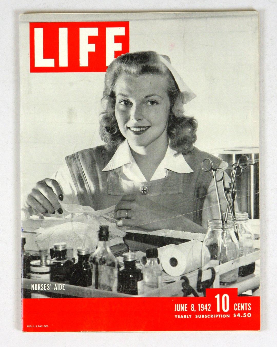LIFE Magazine 1942 June 8 Nurses' Aide President