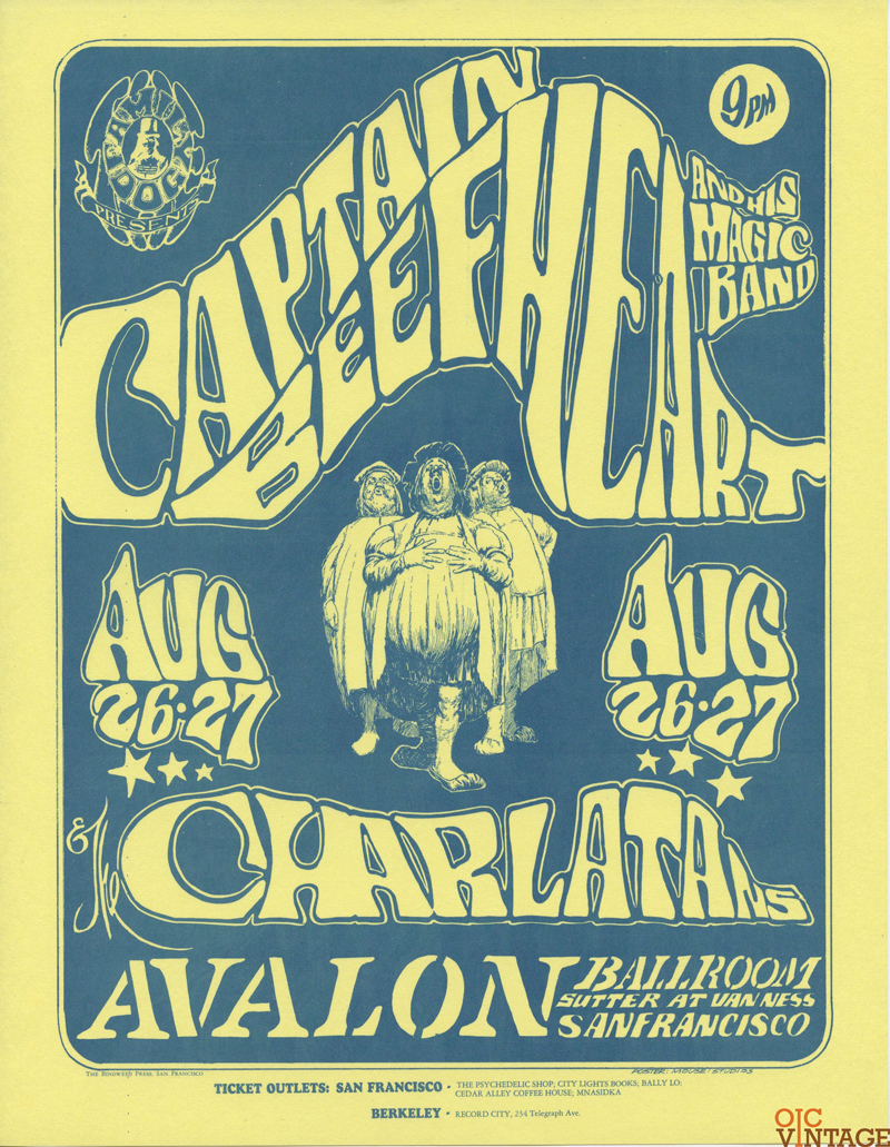 Family Dog 023 Handbill Captain Beefheart 1966 Aug 26 Stanley Muse Alton Kelley