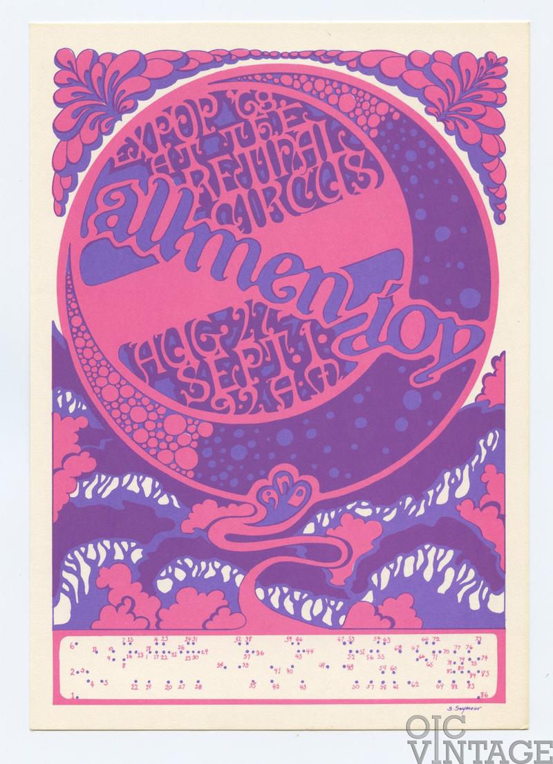 Retinal Circus Postcard 1968 Aug 27 Allmen Joy Expo 98 Show Vancouver Canada