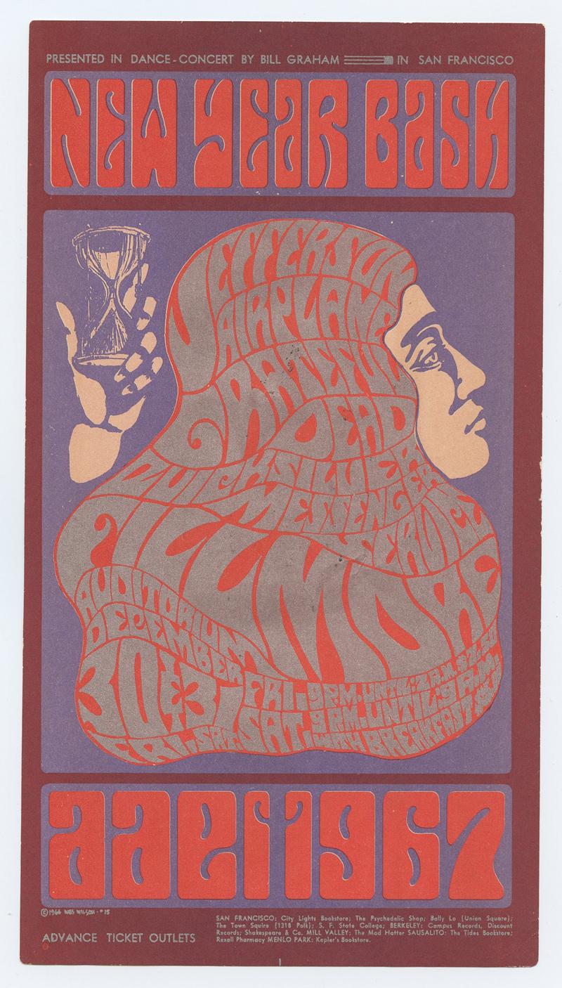 Bill Graham 037 Handbill Very Fine Condition
