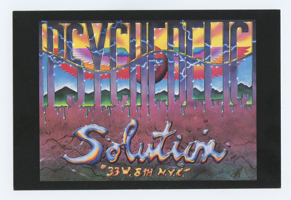 Alton Kelley Postcard PSYCHEDELIC SOLUTION 1990