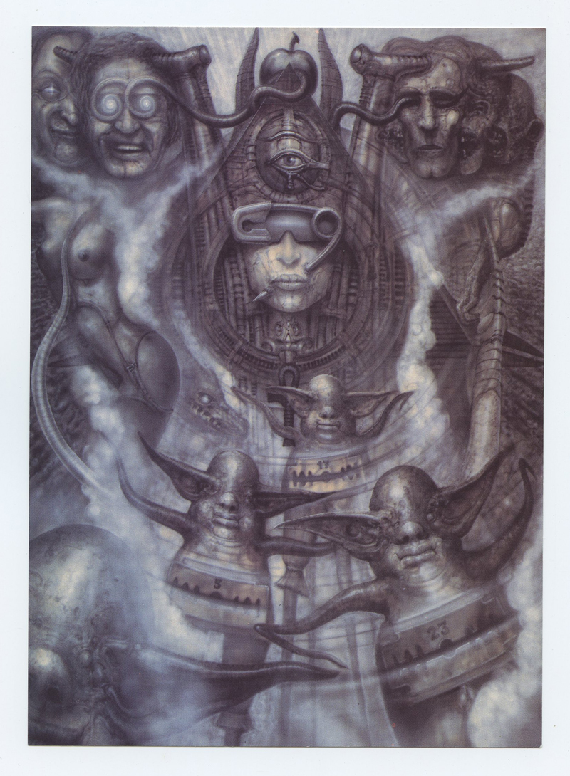 H.R. Giger Postcard ILLUMIATUS I Exhibition 1988 Psychedelic Gallery