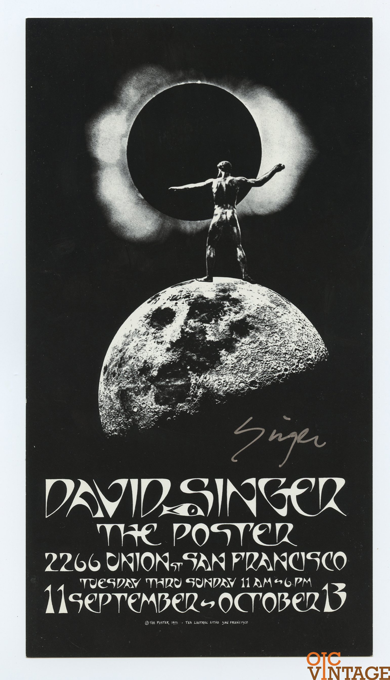 David Singer THE POSTER Exhibition 1971 Sep 11 Handbill Signed