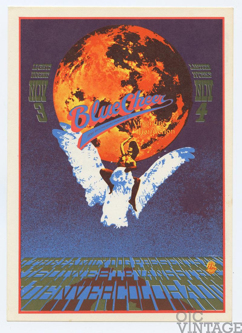 FDD 10 Postcard Blue Cheer 1967 Nov 3