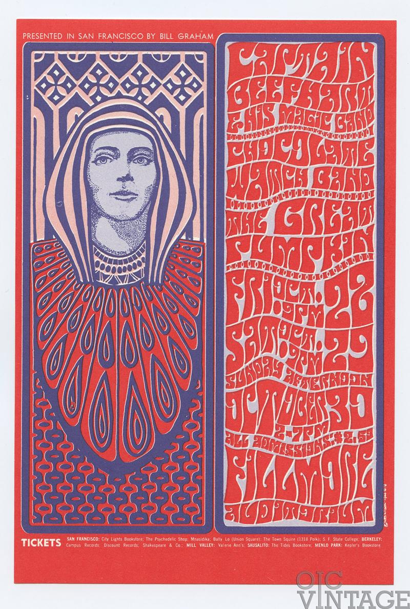 Bill Graham 034 Postcard Captain Beefheart and his Magic Band 1966 Oct 28