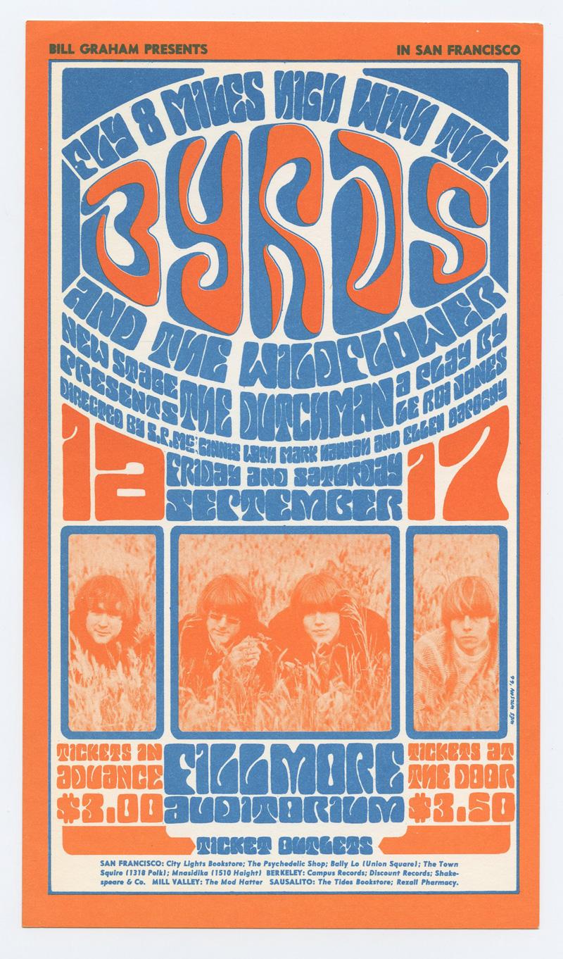 Bill Graham 028 Postcard The Byrds Wildflower 1966 Sep 16