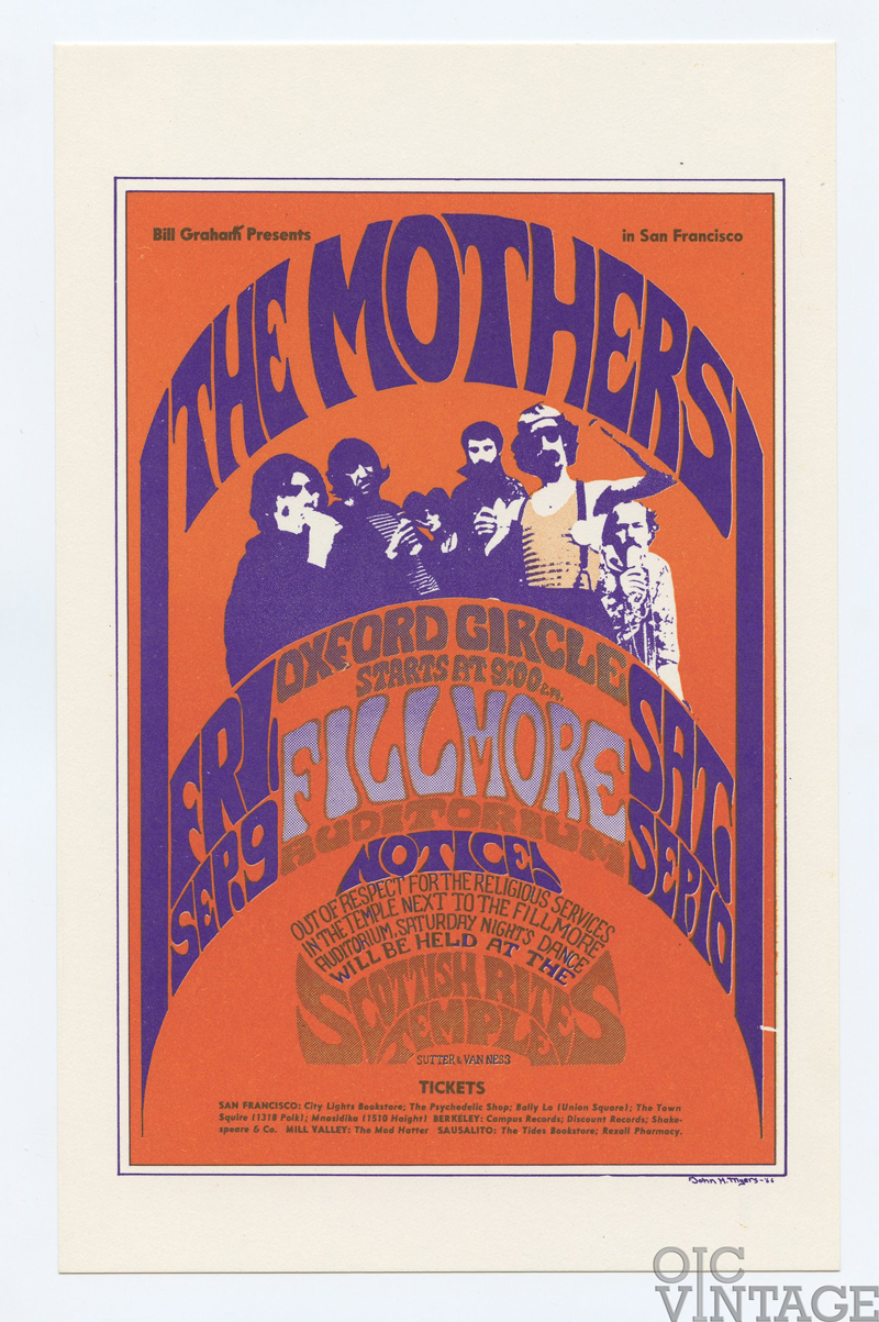 BG  27 Postcard The Mothers Frank Zappa 1966 Sep 9