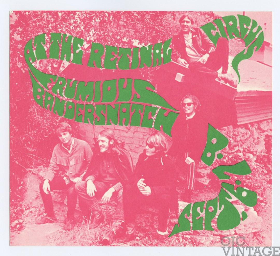 Retinal Circus Postcard 1968 Sep 6 Frumious Bandersnatch Vancouver Canada