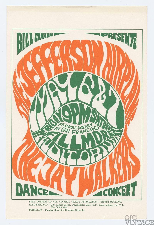 Bill Graham 005 Postcard Jefferson Airplane Jaywalker 1966 May 6