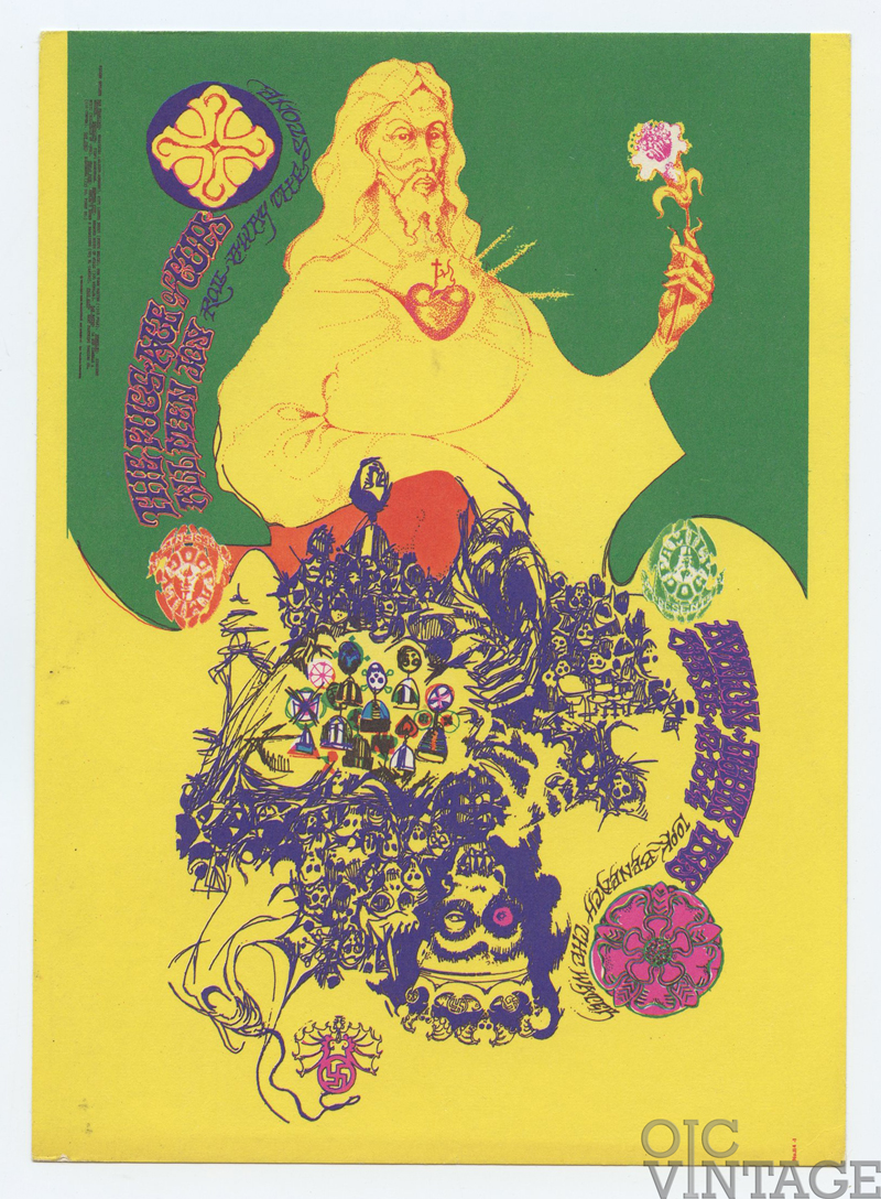 Family Dog 114 Postcard Flip-Flop 1968 Apr 12 Fugs Ace of Cups Allmen Joy