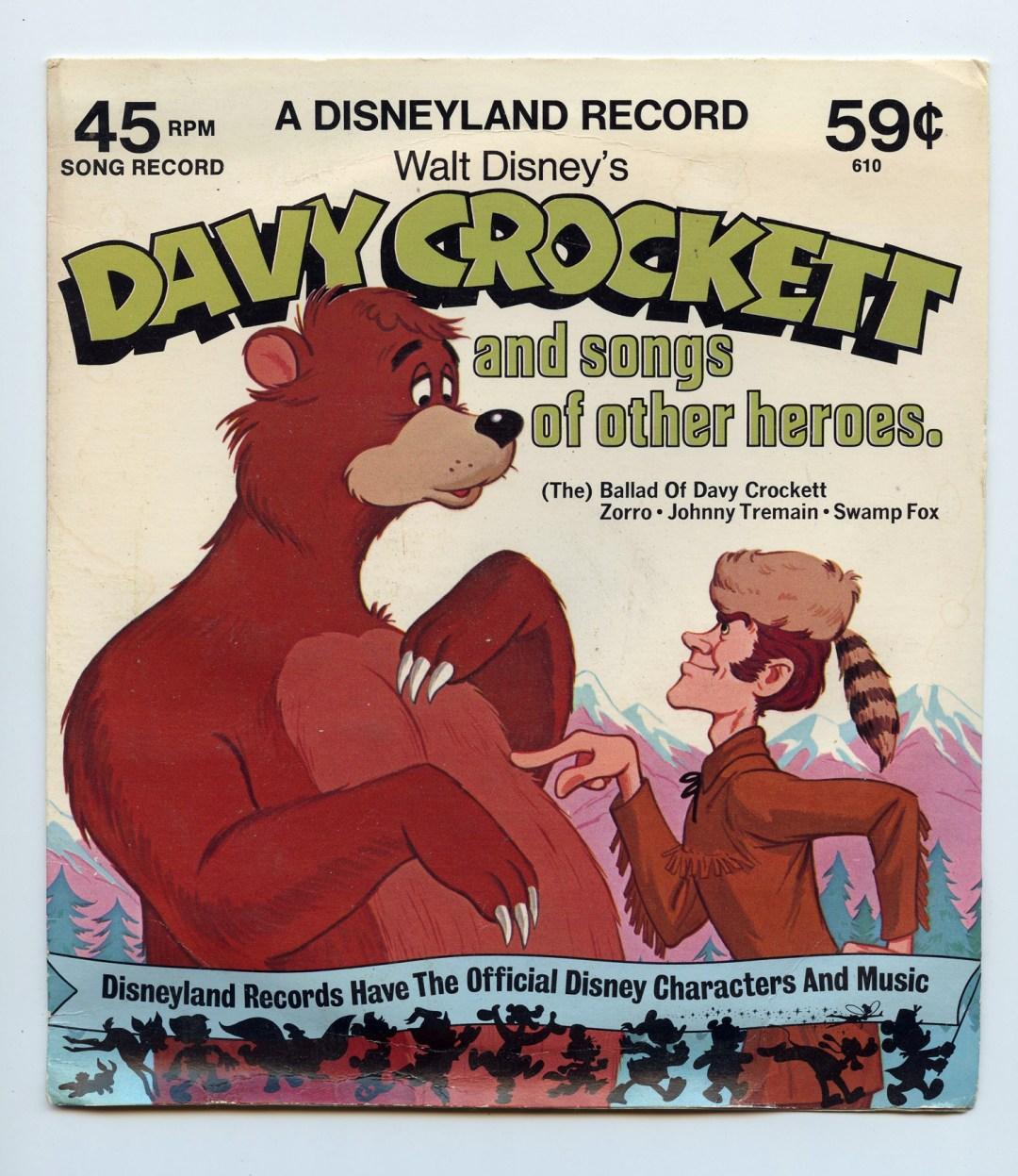 Disney Davy Crockett And Songs Of Other Heros Vinyl 1976