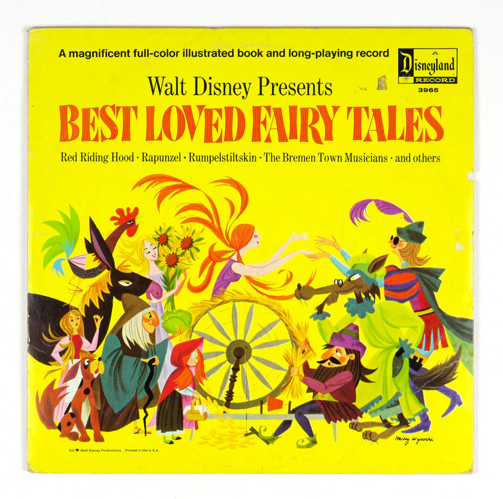 Walt Disney Presents Best Loved Fairy Tales Vinyl LP Gatefold 1967
