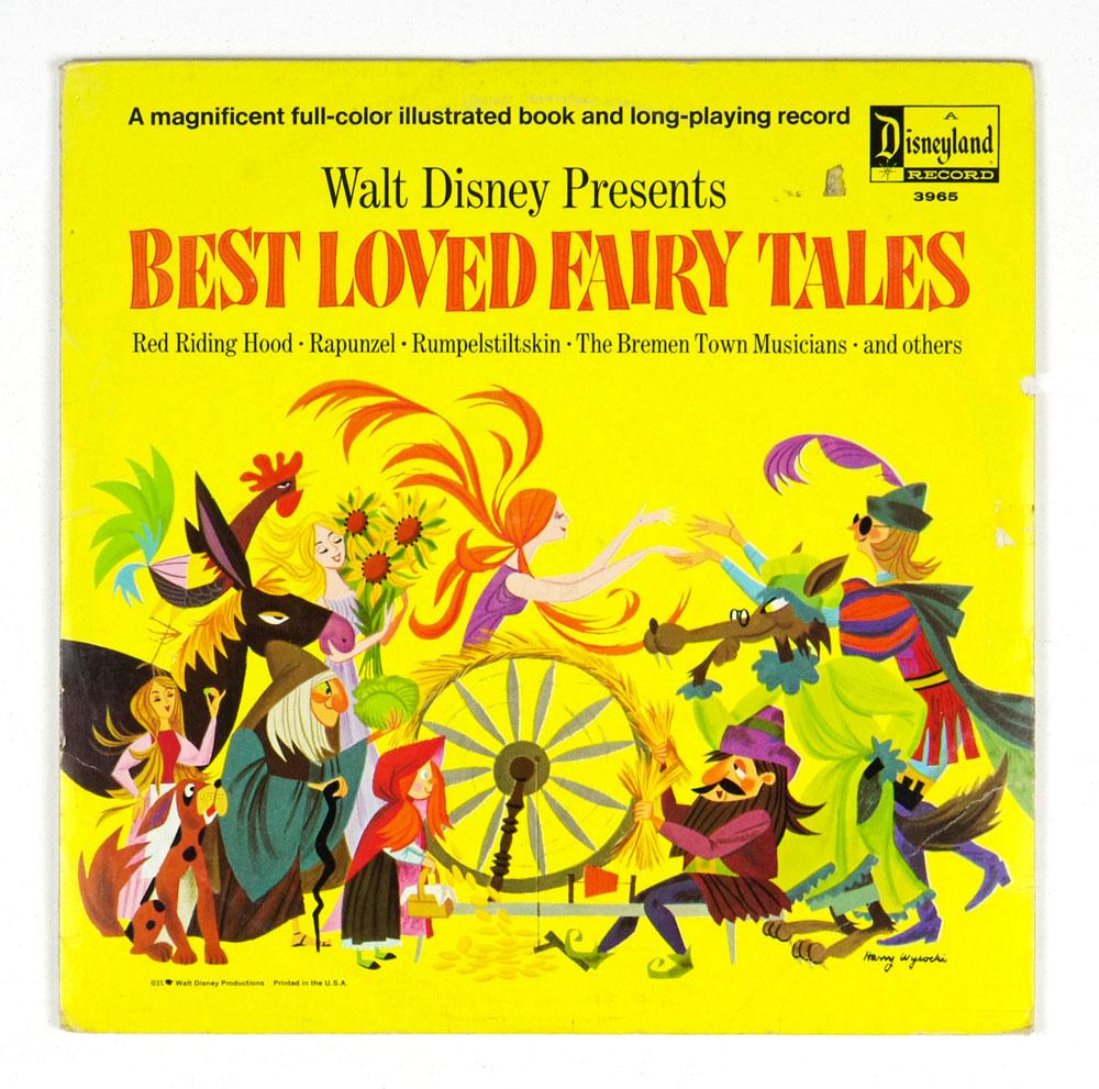 Walt Disney Presents Best Loved Fairy Tales Vinyl LP 1967