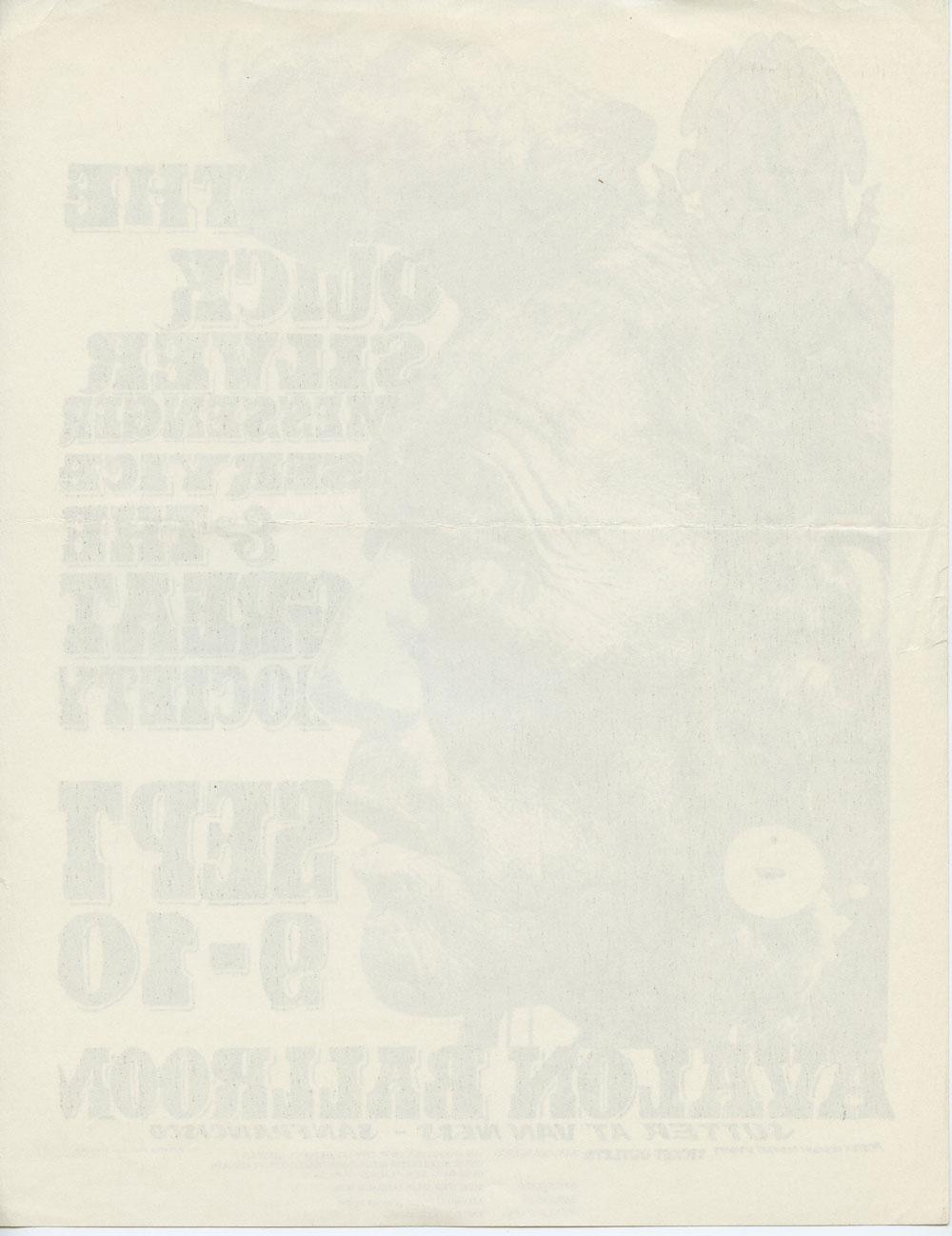 Family Dog 025 Handbill  1966 Sep 9 Indian Quicksilver Messenger Service