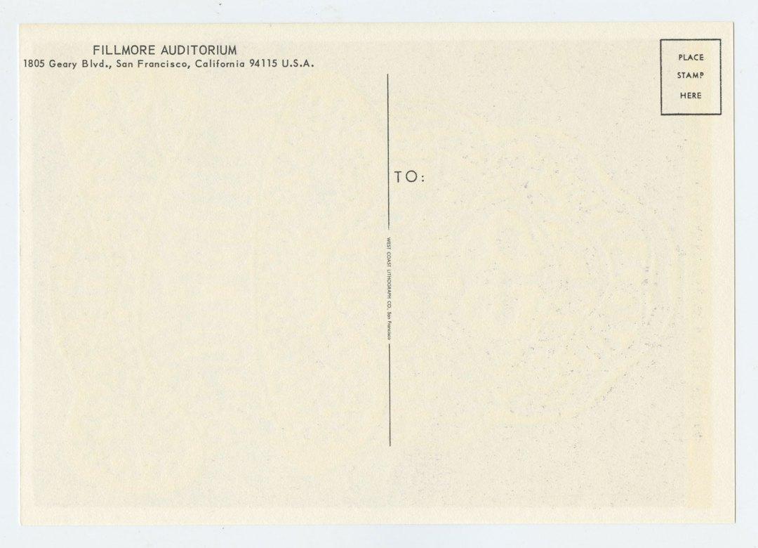 Bill Graham 016 Postcard Mindbenders Chocolate Watchband 1966 Jul 7