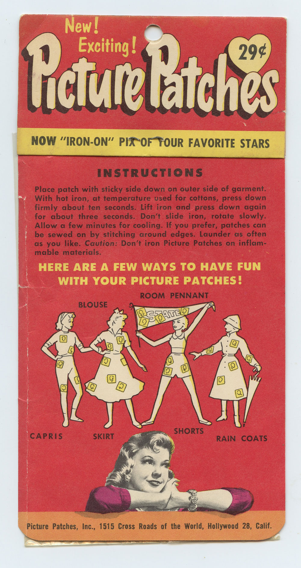 Frankie Avalon Picture Patch Vintage circa 1950s