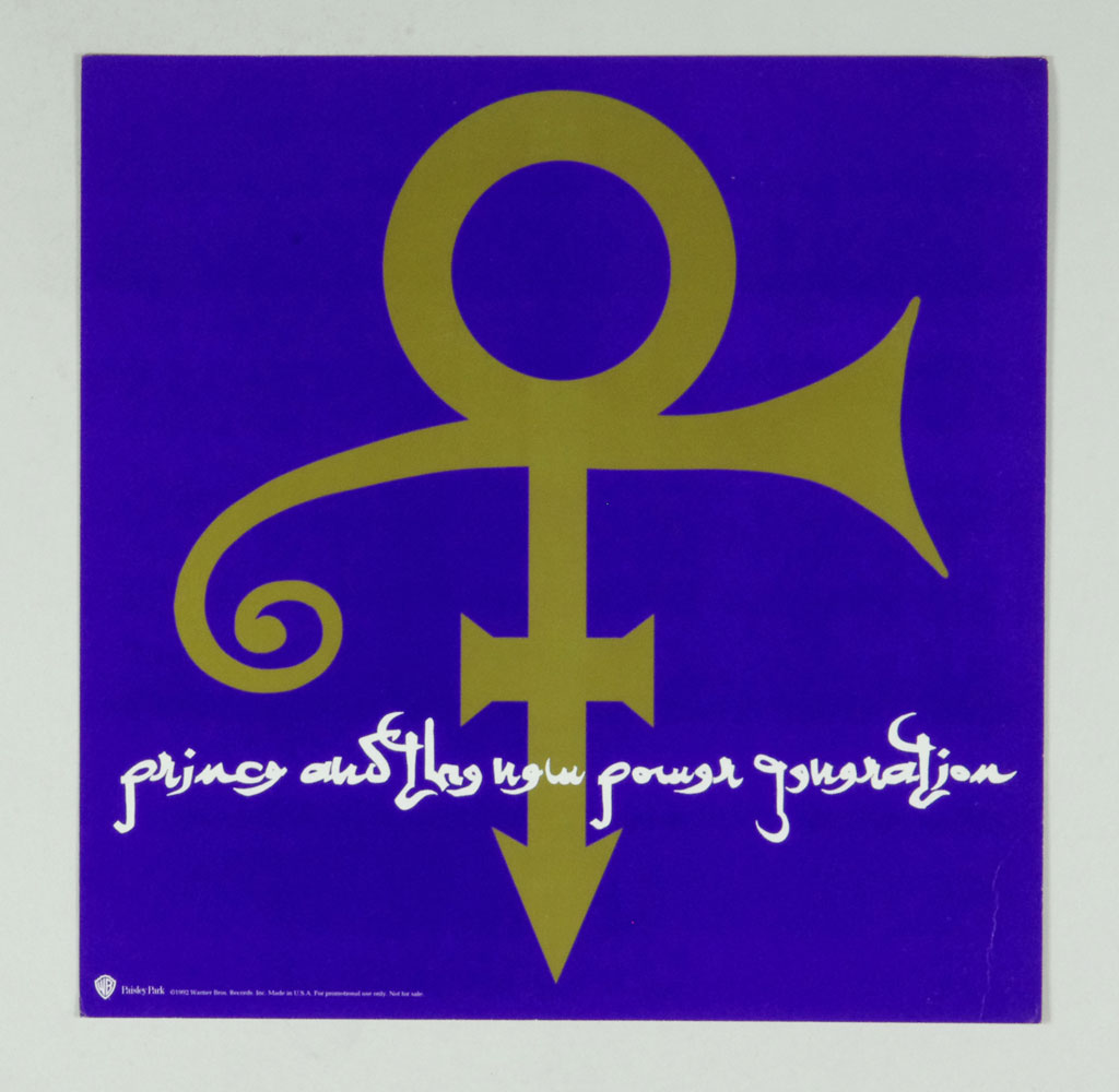 Prince poster flat new power generation love symbol album promo prince poster flat new power generation love symbol album promo 12x12 2 sidedd biocorpaavc