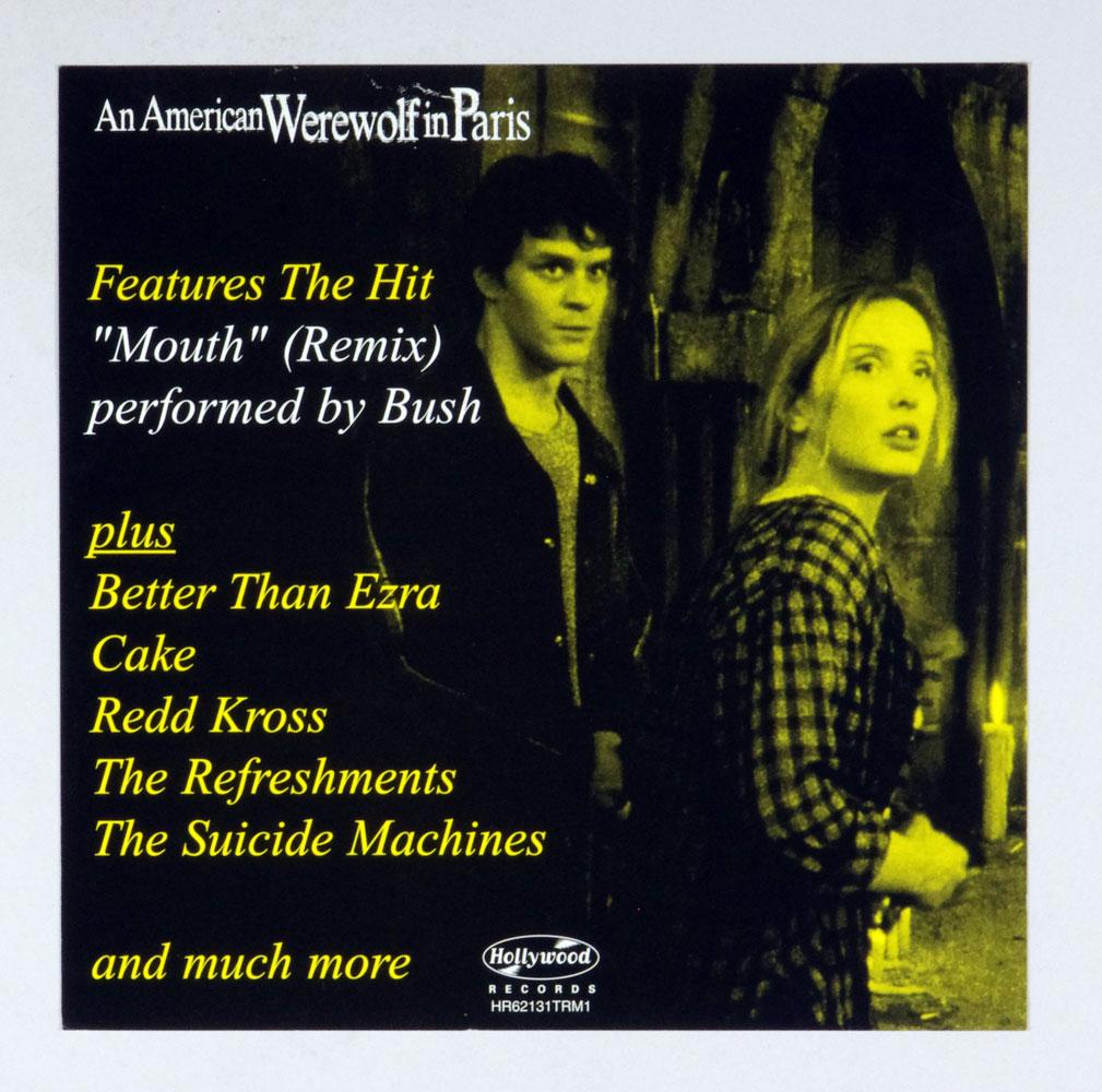 An American Werewolf in Paris Movie Poster Flat 1997 OST Album Promo 12 x 12