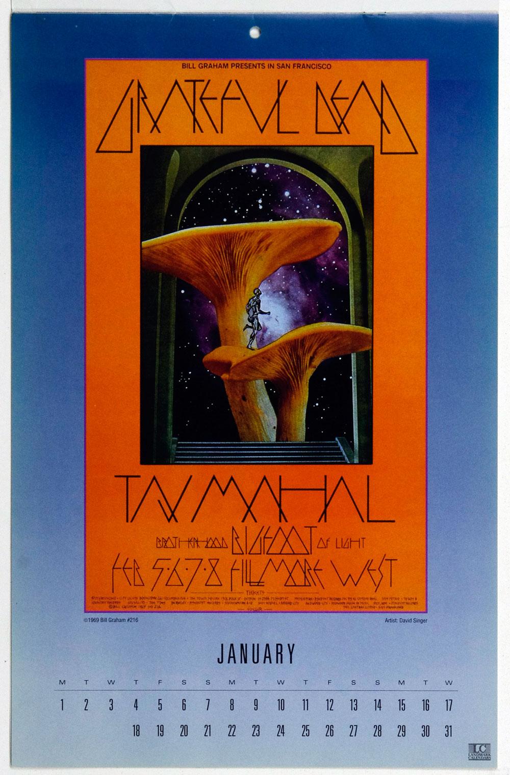 Bill Graham Fillmore Poster Calendar 1990 Vintage Sealed NEW