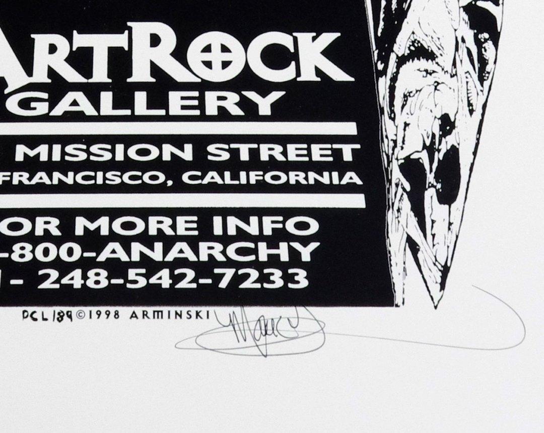 Beware the Future of the Arts 1998 SF Exhibit Poster Mark Arminski signed