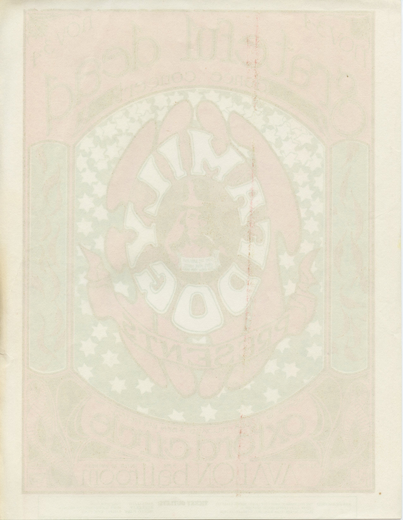 Family Dog 033 Handbill Logo1966 Nov 4 Grateful Dead Oxnard Circle