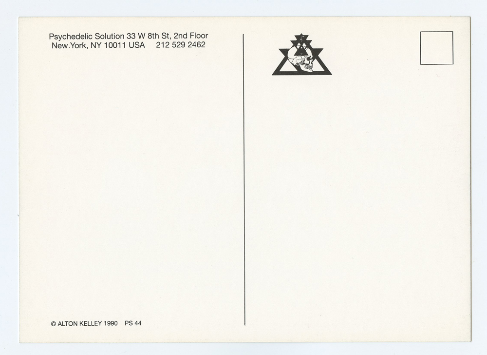 Alton Kelley Postcard 4 Million Years on The Road Exhibition 1990 Mar 1