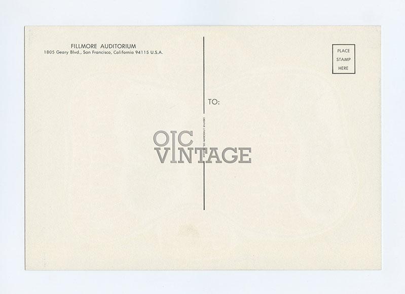 Bill Graham 023 Postcard Grateful Dead Jefferson Airplane 1966 Aug 12