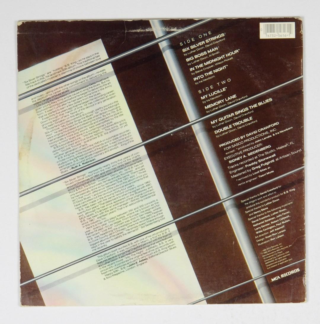 B. B. King Six Silver Strings Vinyl LP 1985