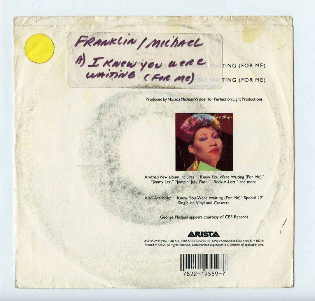 Aretha Franklin George Michael Vinyl I knew You were waiting 1987