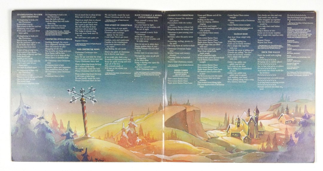 A Chipmunk Christmas Alvin & The Chipmunks Vinyl LP Gatefold 1981