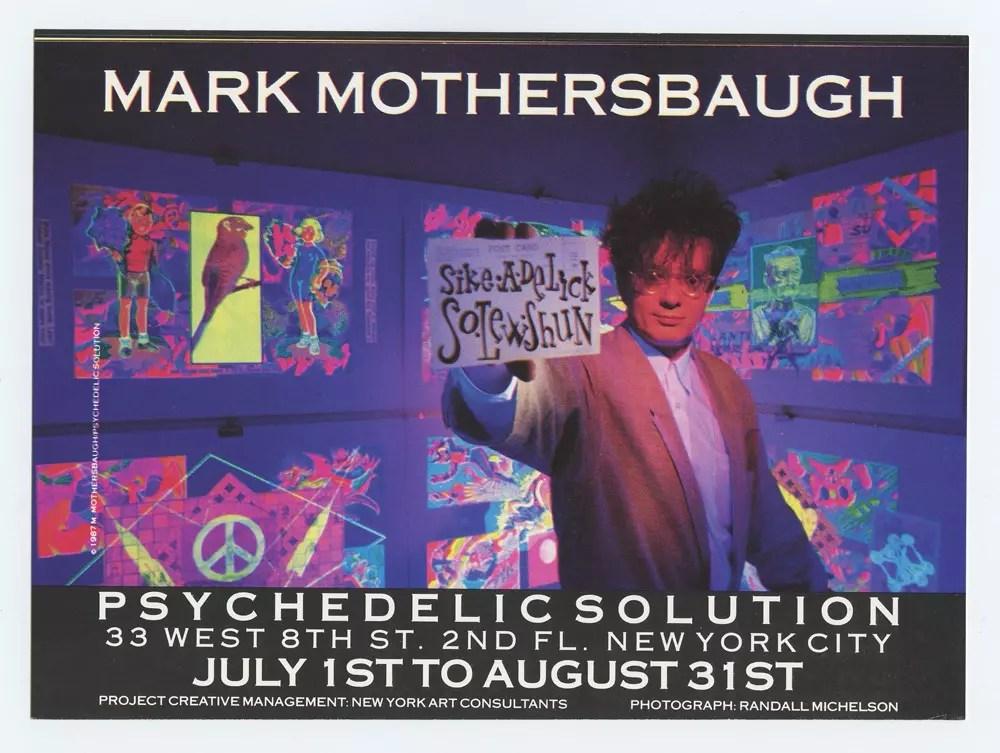 Mark Mothersbaugh exhibit 1993 Jul 1  Psychedelic Gallery Postcard