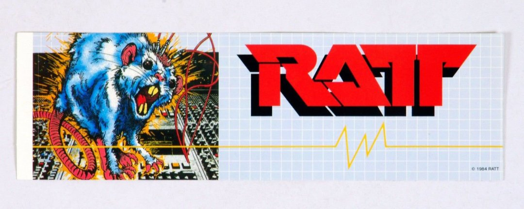 RATT Sticker 1984 Vintage