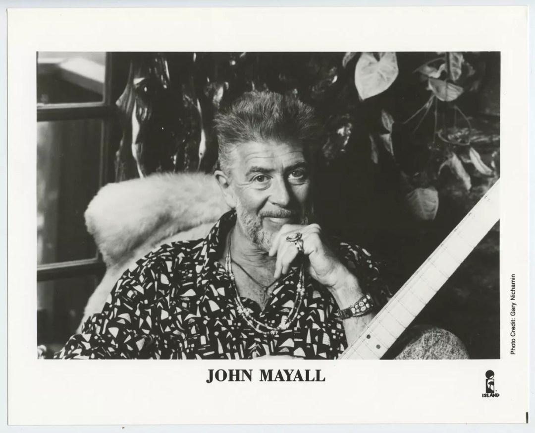 John Mayall Photo Original Island Records Original Vintage