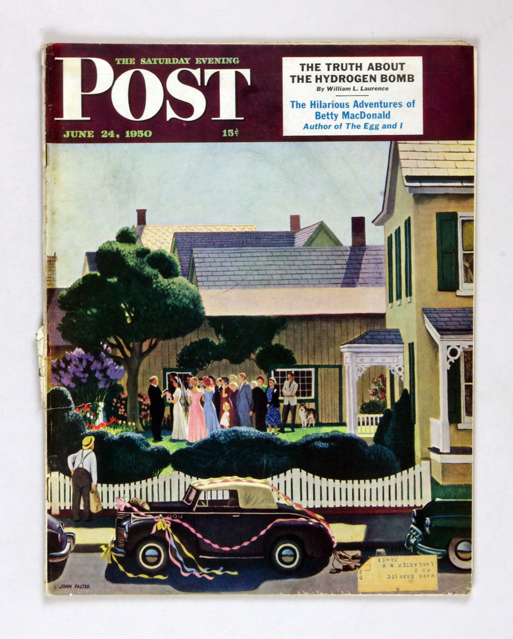 The Saturday Evening Post 1950 Jun 24 Outdoor Wedding by John Falter