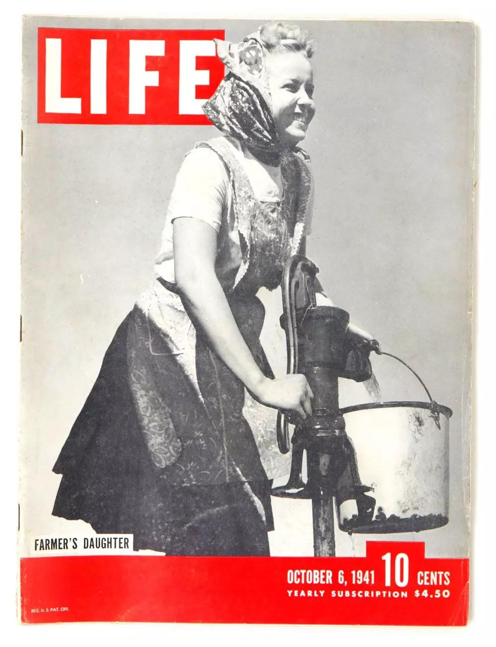 LIFE Magazine 1941 October 6 Farmer's Daughter