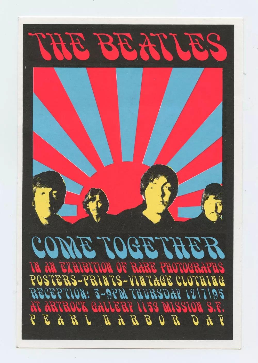 The Beatles Handbill 1995 ARTROCK gallery exhibit promotion