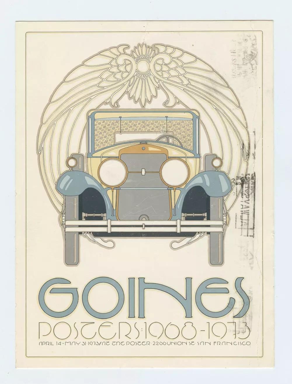 David Lance Goines Postcard Mailed 1973 Exhibit Prmotion