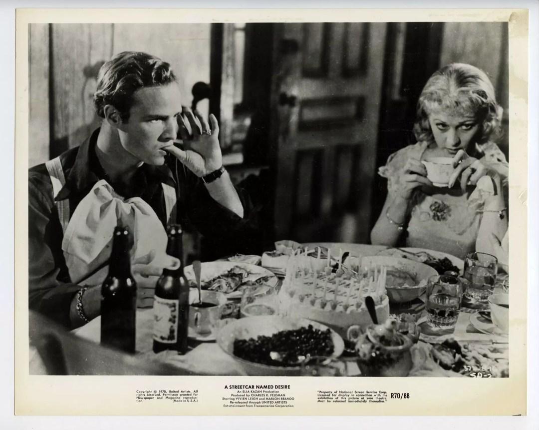 Marlon Brando Vivien Leigh 1951 A Streetcar Named Desire 8 x 10 Lobby Card
