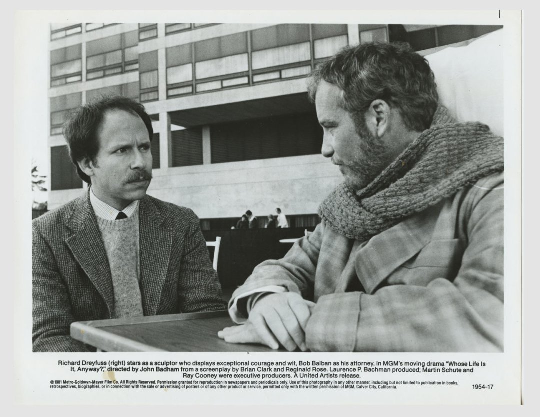 Richard Dreyfuss Janet Eliber 1981 Whose Life Is It Anyway?  Lobby Card