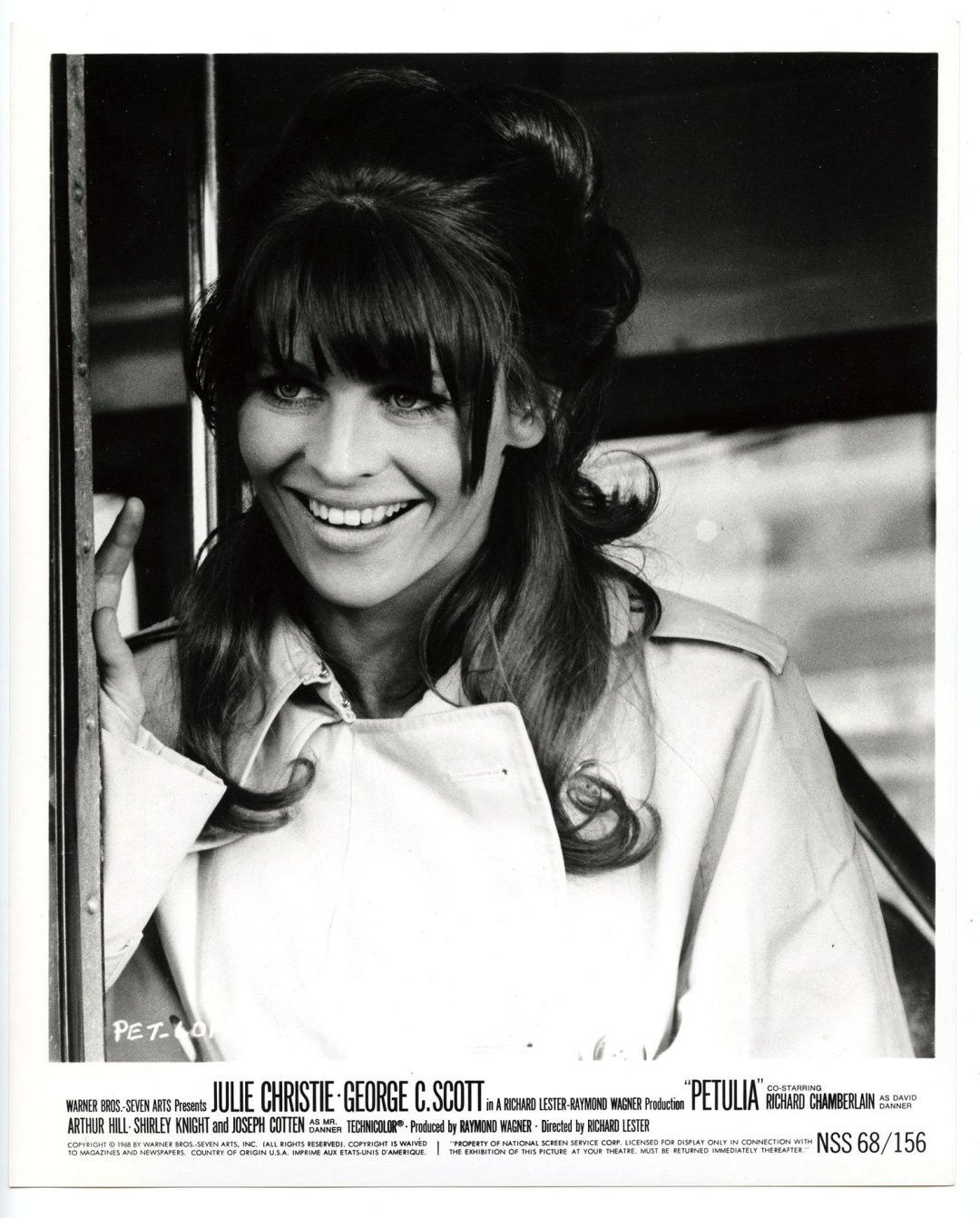 Julie Christie 1968 Petulia Lobby Card