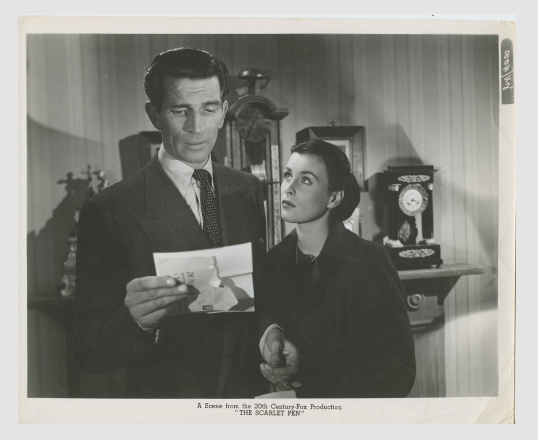 Michael Rennie Constance Smith 1951 The 13th Letter Lobby Card 8x10