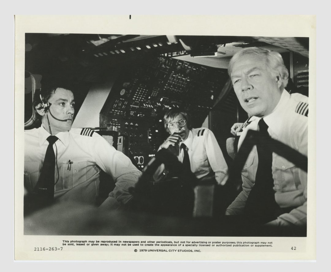 Alain Delon George Kennedy The Concorde Airport 79 Lobby Card 8x10