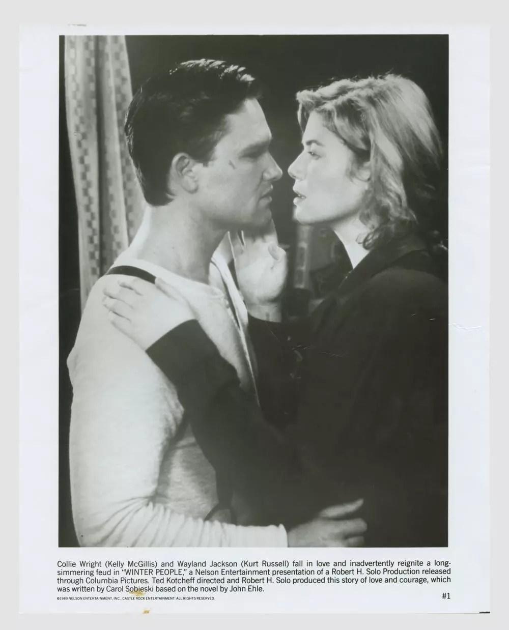 Kelly McGillis Kurt Russell 1989 Winter People Lobby Card 8x10