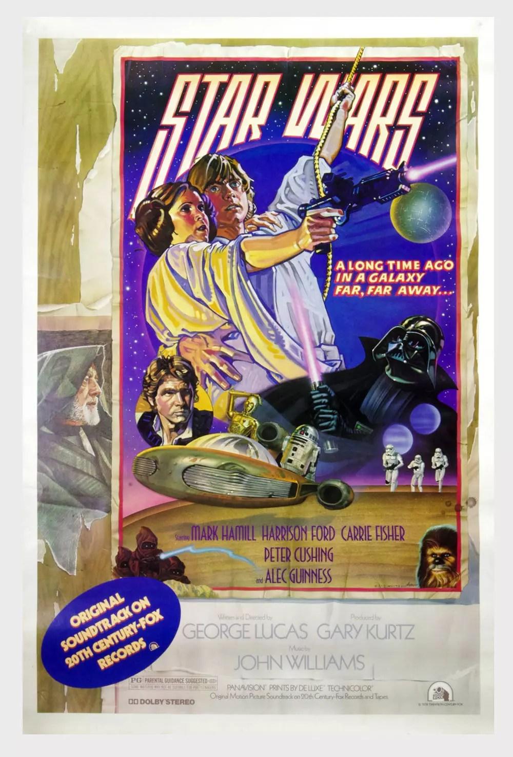 Star Wars A New Hope 1978  Soundtrack Album Promo Poster 27 x 41