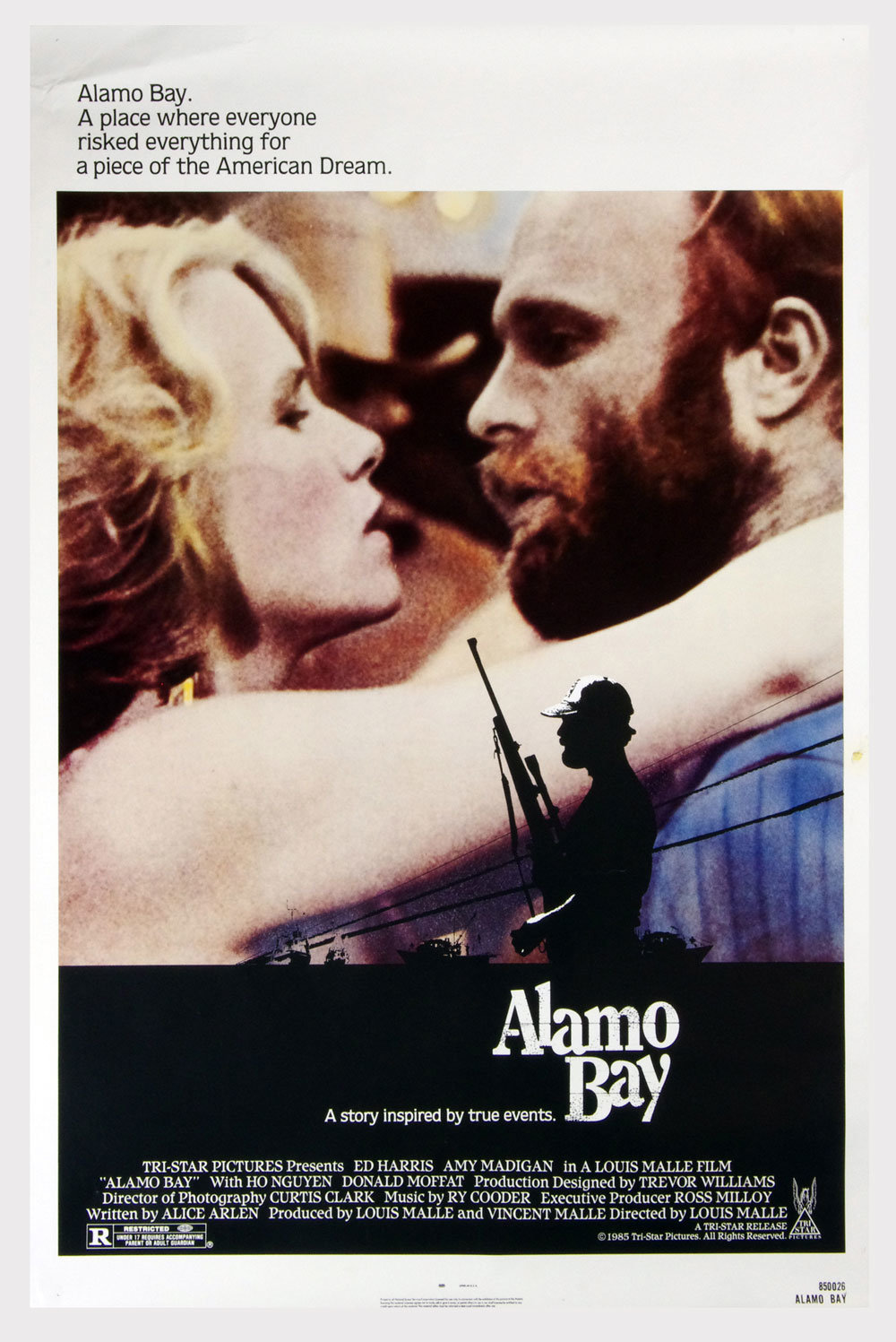 Alamo Bay Movie Poster 1985 Ed Harris 27 x 41