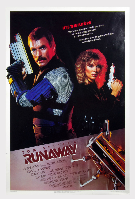 RUNAWAY Poster 1984 Tom Selleck 27 x 41 1 Sheet
