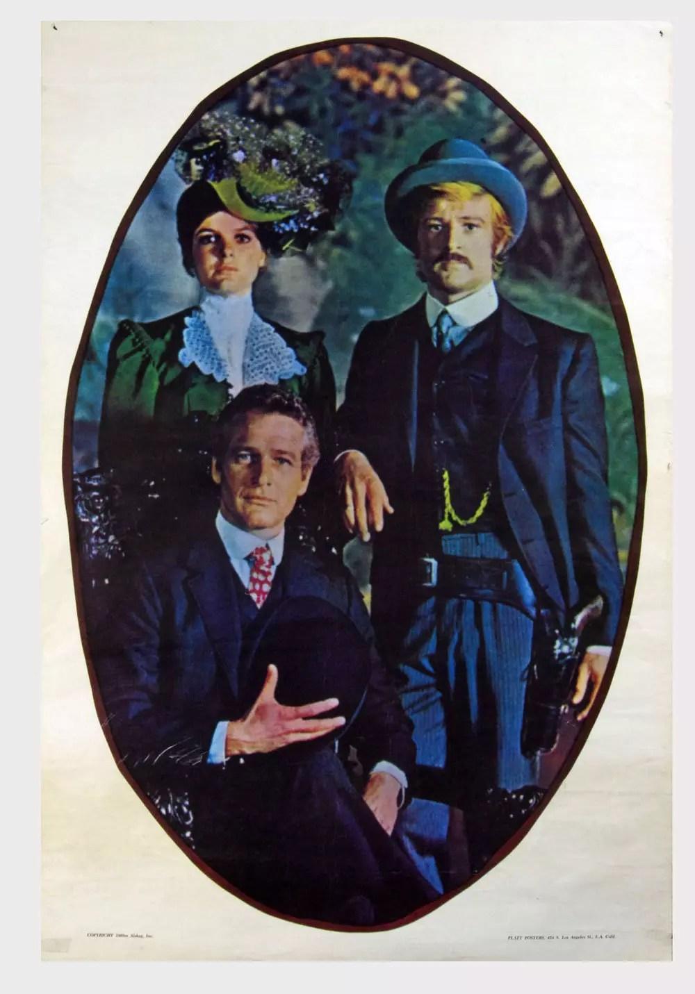 Paul Newman Robert Redford Katharine Hepburn Poster 1969 28 x 42 Condition Fine