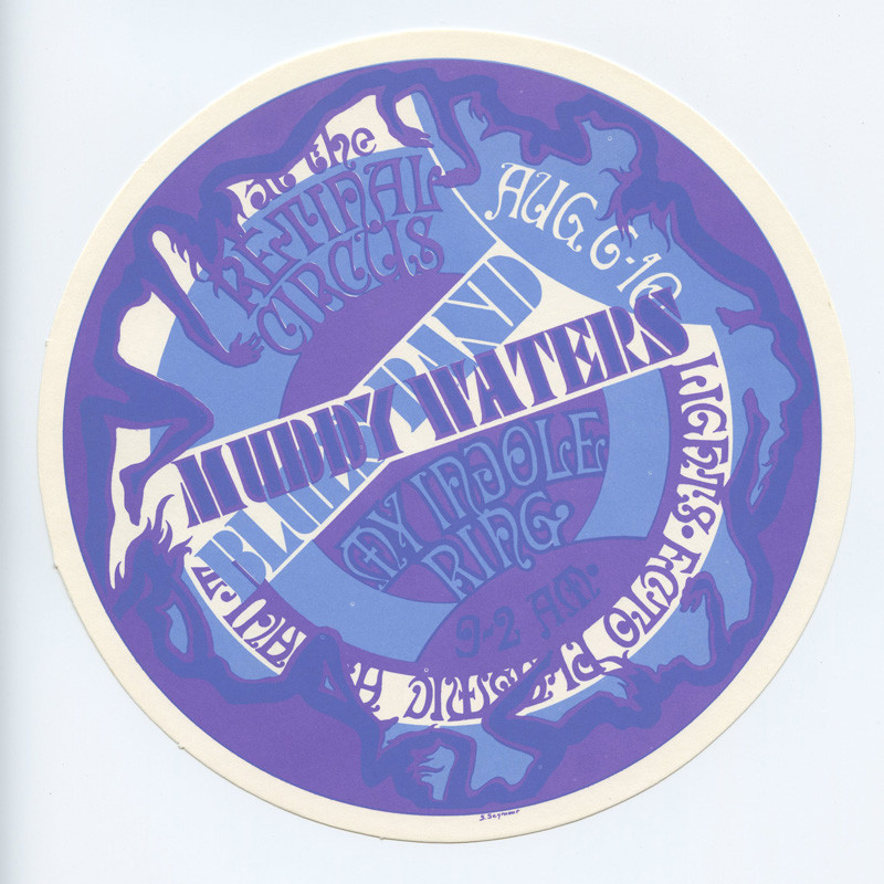 Retinal Circus Postcard 1968 Aug 6 Muddy Waters Vancouver Canada